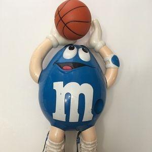 M & M Dispenser Basketball Blue M&M Collectible